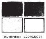 vector grunge frames.grunge ... | Shutterstock .eps vector #1209020734