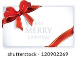 greeting card with red ribbon... | Shutterstock .eps vector #120902269