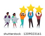 successful work. best estimate... | Shutterstock .eps vector #1209023161