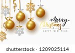 christmas greeting card  design ... | Shutterstock .eps vector #1209025114