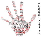 vector conceptual webcast or... | Shutterstock .eps vector #1209028621