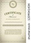 classic certificate of... | Shutterstock .eps vector #1209041434