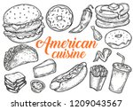 american traditional food... | Shutterstock .eps vector #1209043567