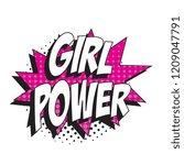phrase girl power in retro...   Shutterstock .eps vector #1209047791