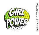 phrase girl power in retro...   Shutterstock .eps vector #1209047794