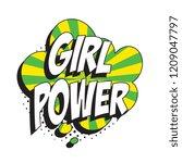 phrase girl power in retro...   Shutterstock .eps vector #1209047797
