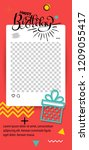 trendy editable template for... | Shutterstock .eps vector #1209055417