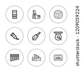 play icon set. collection of 9... | Shutterstock .eps vector #1209059224