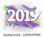 2019 new year on the background ... | Shutterstock . vector #1209059584
