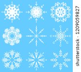 collection of artistic icy... | Shutterstock . vector #1209059827