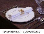 festive table setting   Shutterstock . vector #1209060217