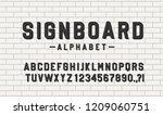 signboard lettering alphabet on ... | Shutterstock .eps vector #1209060751