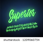 superior script lettering... | Shutterstock .eps vector #1209060754