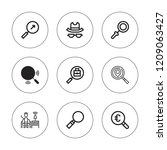 loupe icon set. collection of 9 ... | Shutterstock .eps vector #1209063427