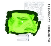green brush stroke and texture. ... | Shutterstock .eps vector #1209064561