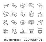 set of feedback line icons ... | Shutterstock .eps vector #1209065401