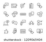 set of feedback line icons ... | Shutterstock .eps vector #1209065404