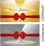 golden and silver christmas... | Shutterstock . vector #120906637