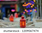 candlestick display and soft... | Shutterstock . vector #1209067474