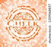 cheek abstract orange mosaic... | Shutterstock .eps vector #1209068857