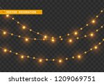 christmas decorations  isolated ... | Shutterstock .eps vector #1209069751