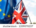 european union and british... | Shutterstock . vector #1209070237