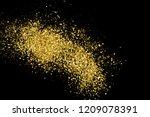 gold glitter texture isolated...   Shutterstock .eps vector #1209078391