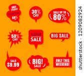 sale label red collection.price ... | Shutterstock .eps vector #1209082924