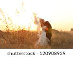 romantic bride and groom | Shutterstock . vector #120908929