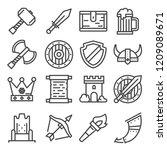 knight medieval history vector... | Shutterstock .eps vector #1209089671