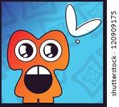 monster with heart | Shutterstock .eps vector #120909175