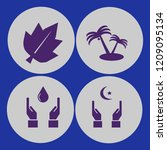 palm icon. palm vector icons...   Shutterstock .eps vector #1209095134