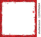 red christmas frame with... | Shutterstock .eps vector #1209096064