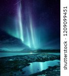 a spectacular northern light... | Shutterstock . vector #1209099451