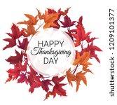 happy thanksgiving background.... | Shutterstock .eps vector #1209101377