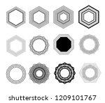 vector logo design elements set ... | Shutterstock .eps vector #1209101767
