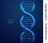 dna link. science technological ... | Shutterstock .eps vector #1209108301
