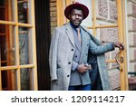 stylish african american man... | Shutterstock . vector #1209114217