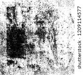 black and white grunge texture. ... | Shutterstock . vector #1209114577