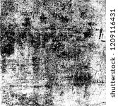 black and white grunge texture. ... | Shutterstock . vector #1209116431