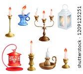 candlestick vector candle... | Shutterstock .eps vector #1209125251