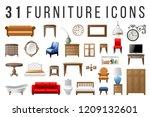 set of 31 highly detailed... | Shutterstock .eps vector #1209132601