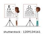 oculist african american doctor ... | Shutterstock .eps vector #1209134161