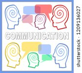 communication banner with...   Shutterstock .eps vector #1209136027