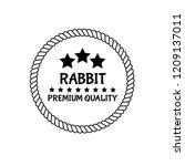 rabbit premium quality badge....   Shutterstock .eps vector #1209137011