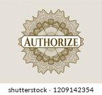 brown passport rossete with... | Shutterstock .eps vector #1209142354