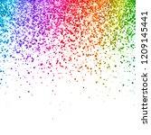 multicolor falling glitter on... | Shutterstock .eps vector #1209145441