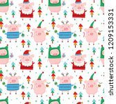 seamless vector pattern with... | Shutterstock .eps vector #1209153331