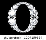 diamond letters with gemstones  ... | Shutterstock . vector #1209159934