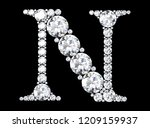 diamond letters with gemstones  ... | Shutterstock . vector #1209159937
